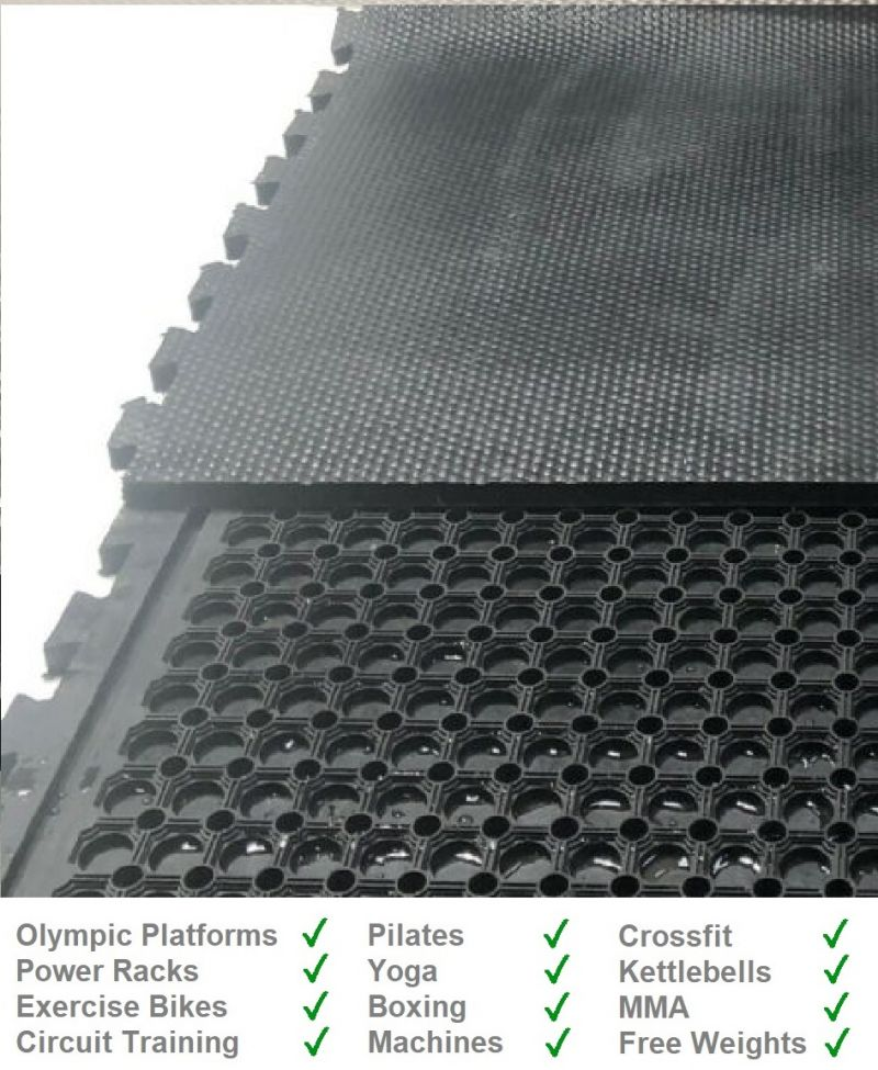 25mm Interlocking Cushioned Rubber Gym Mat from Gym Mats Plus
