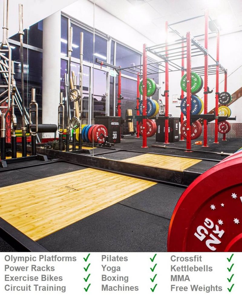 Ameobic High Grip Rubber Gym Mats from Gym Mats Plus