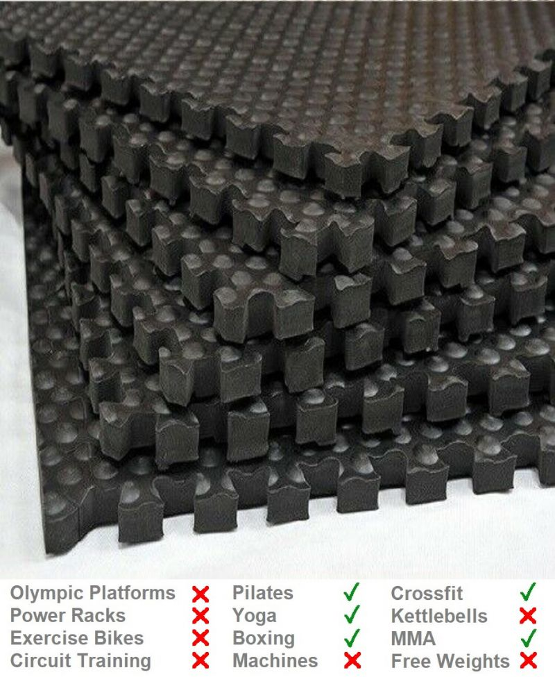 24mm Interlocking Lightweight EVA Gym Mat